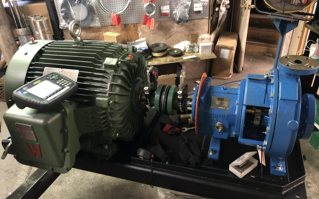Precision Laser Alignment Summit 2196 ANSI End Suction Centrifugal Pump