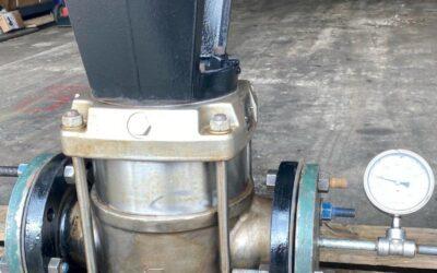 Hydrostatic Pressure Test on GRUNDFOS CRN64 Vertical Multistage Booster Pump