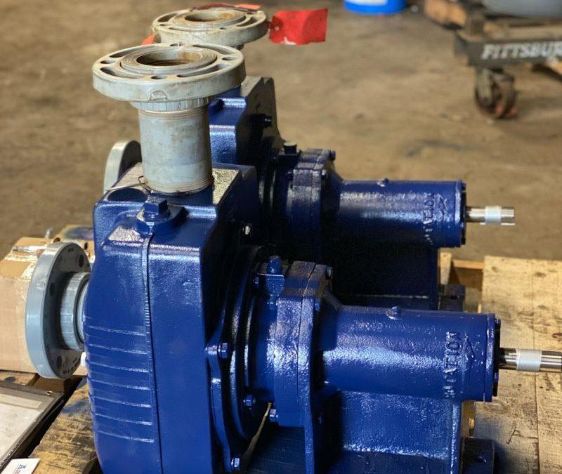 "Crane 3"" x 3"" Self-Priming Centrifugal Pumps Rebuilt at ABET"